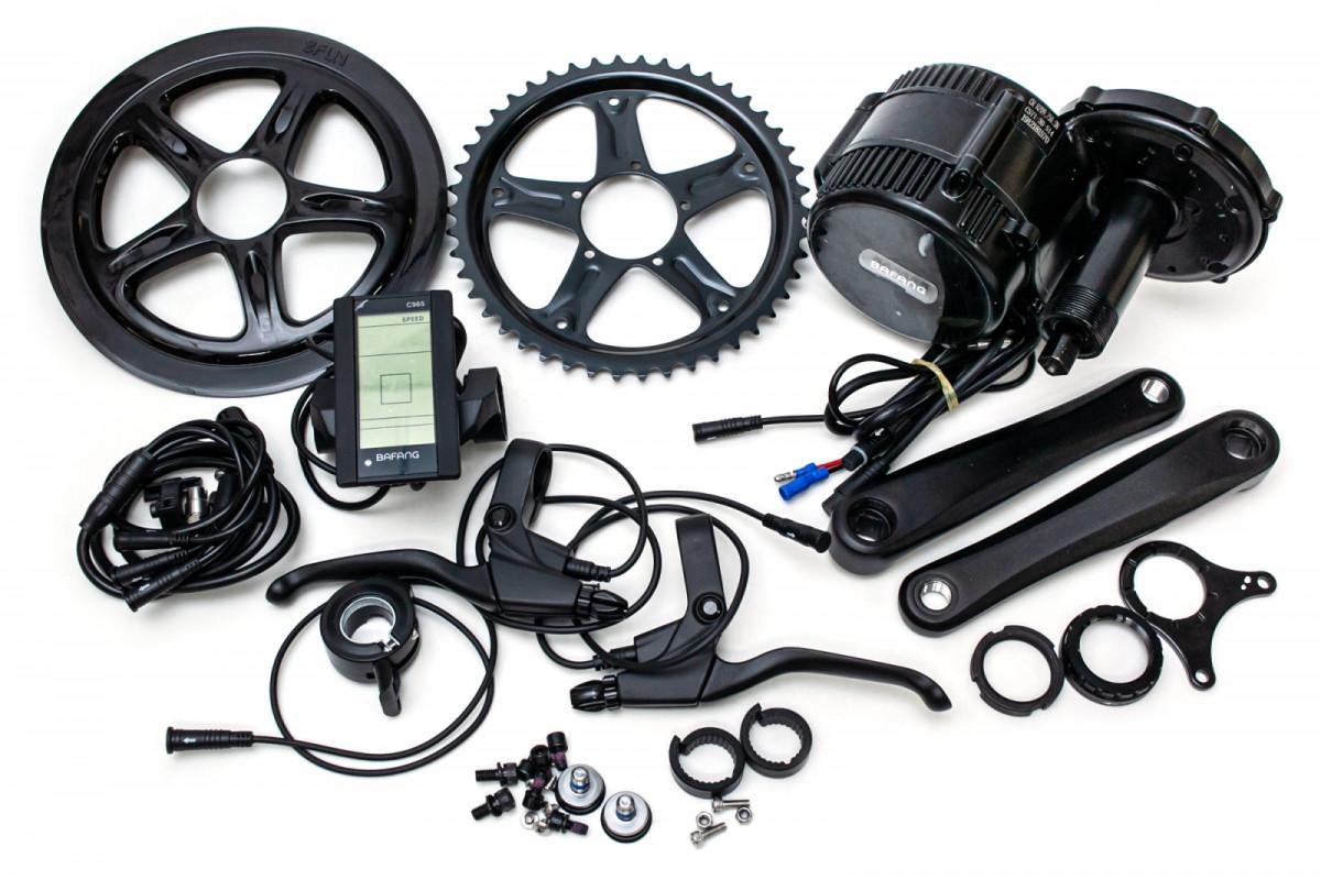 Фото Электрический велонабор Bafang 48В 500Вт BBS02 68мм 46T дисплей С965, ручка газа, тормозные ручки с официального сайта OSKAR™