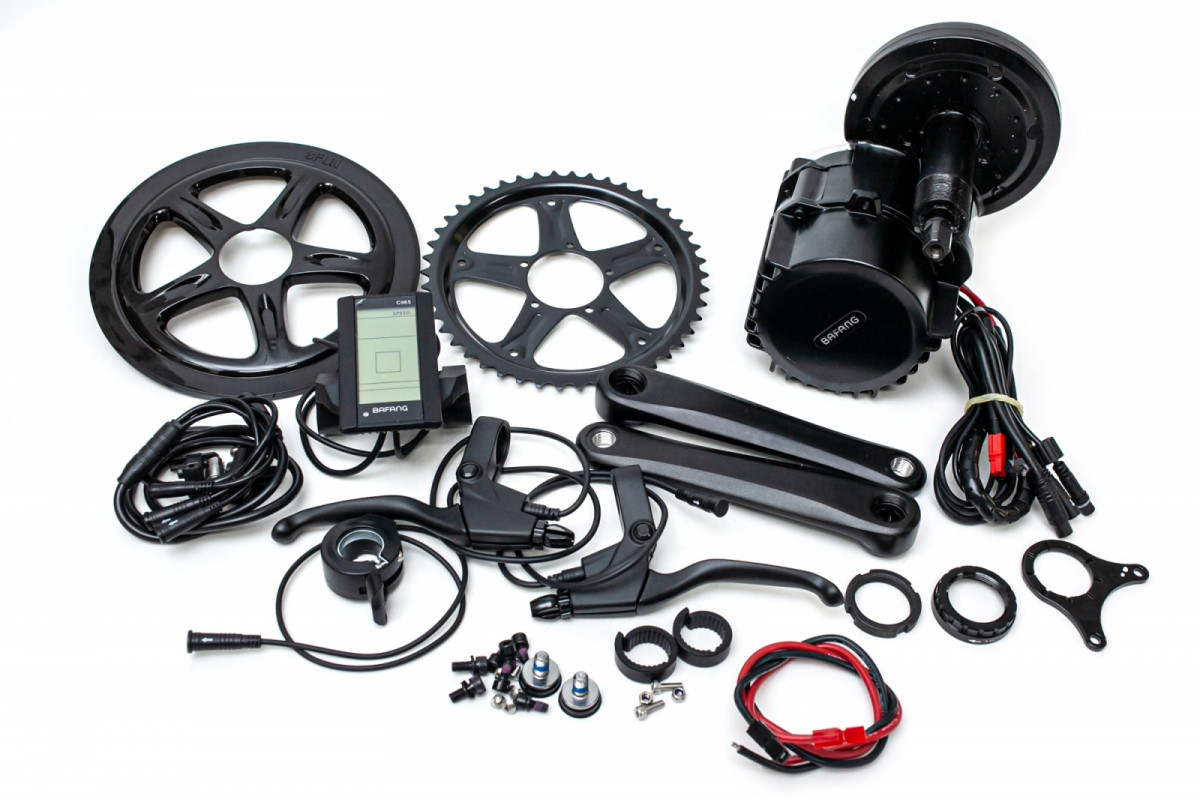 Фото Электрический велонабор Bafang 48В 1000Вт BBSHD 68мм 46T дисплей С965, ручка газа, тормозные ручки с официального сайта OSKAR™