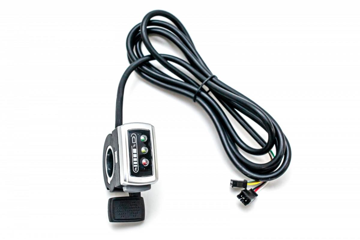 Фото Ручка газа правая GP 106DX, c индикацией заряда, 48В с официального сайта OSKAR™
