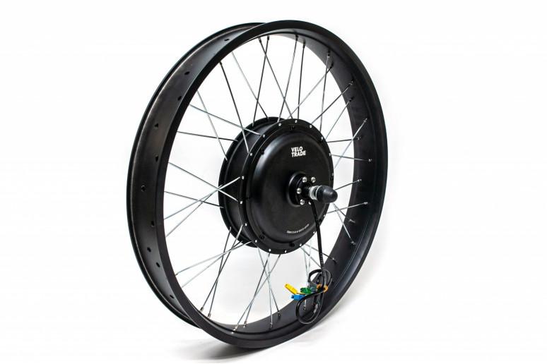 """Мотор-колесо 26x4.0"""" GP 48GP-D30S прямой привод 48В 1000Вт, задний, 36H 12G под трещотку фэтбайк"""