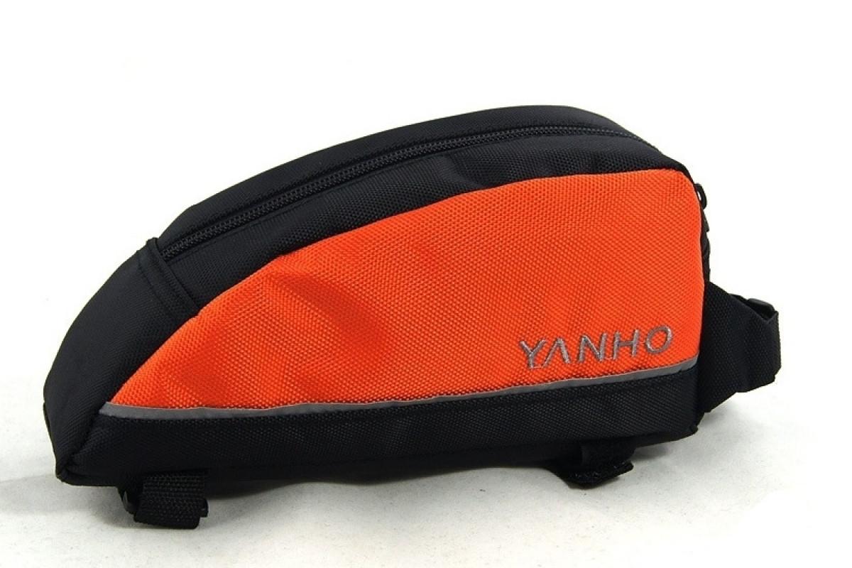 Фото Велосумка на раму BC-BG021 21*10*6cm черно-оранжевый с официального сайта OSKAR™