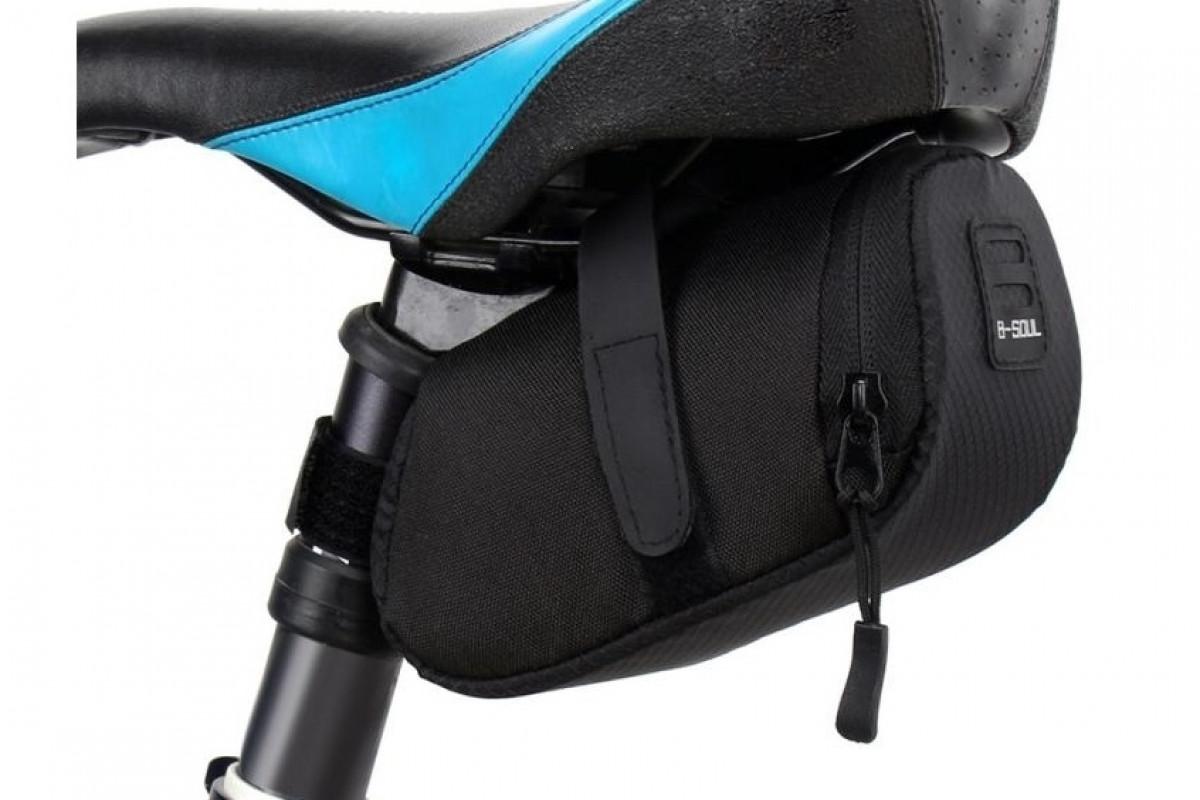 Фото Велосумка мини под седло BC-BG102 16*8*7cm черный с официального сайта OSKAR™