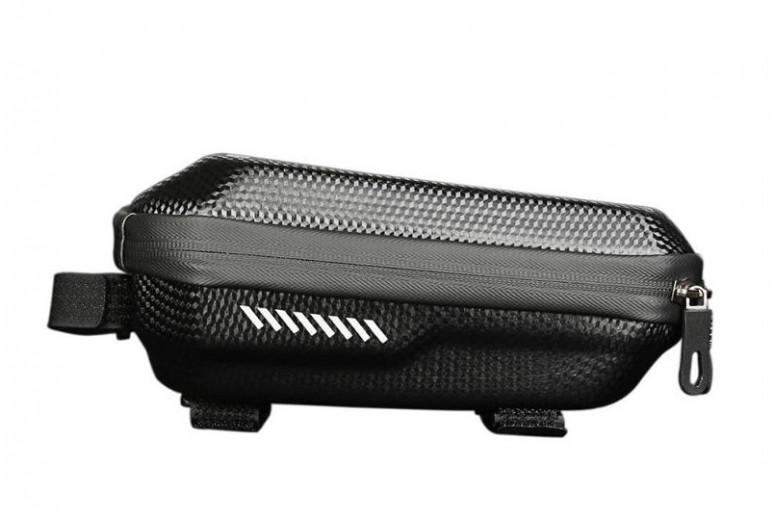 Велосумка -кейс на верхн. трубу рамы BC-BG169 23*10*9cm черный