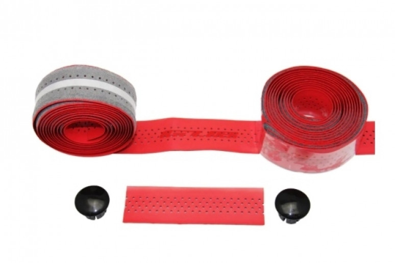 Обмотка для шоссейного руля GUB RACE 3х210 толщ. 2мм PU красная