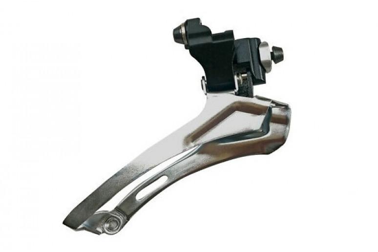 Переключатель перед. под трубу 34,9мм (адаптер 31,8) Micro New FD-R52B для шоссе (металик)