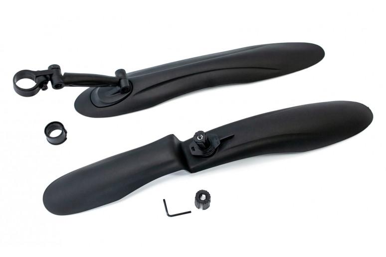 """Крыло 24-29"""" пластик. черн. (крепл. на вилку и подседел.) BRAVVOS FL-628 быстросъемные"""