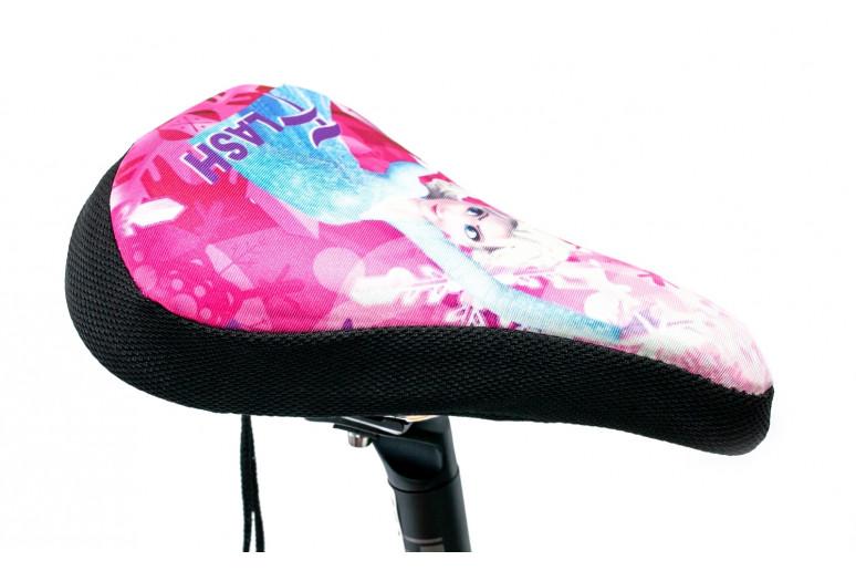 Накладка на детское седло FROZEN с гелевым наполнителем 200*150mm (черно-розовый)