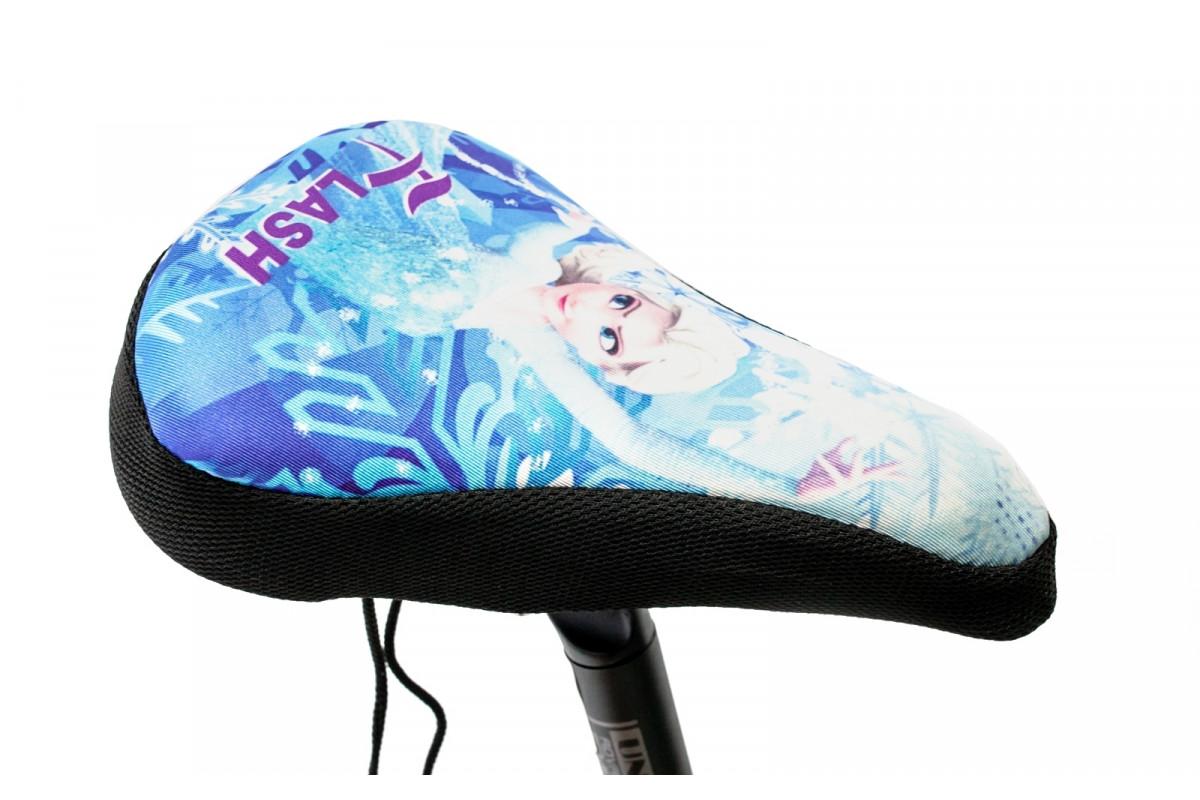 Фото Накладка на детское седло FROZEN с гелевым наполнителем 200*150mm черно-голубая (черно-голубой) с официального сайта OSKAR™