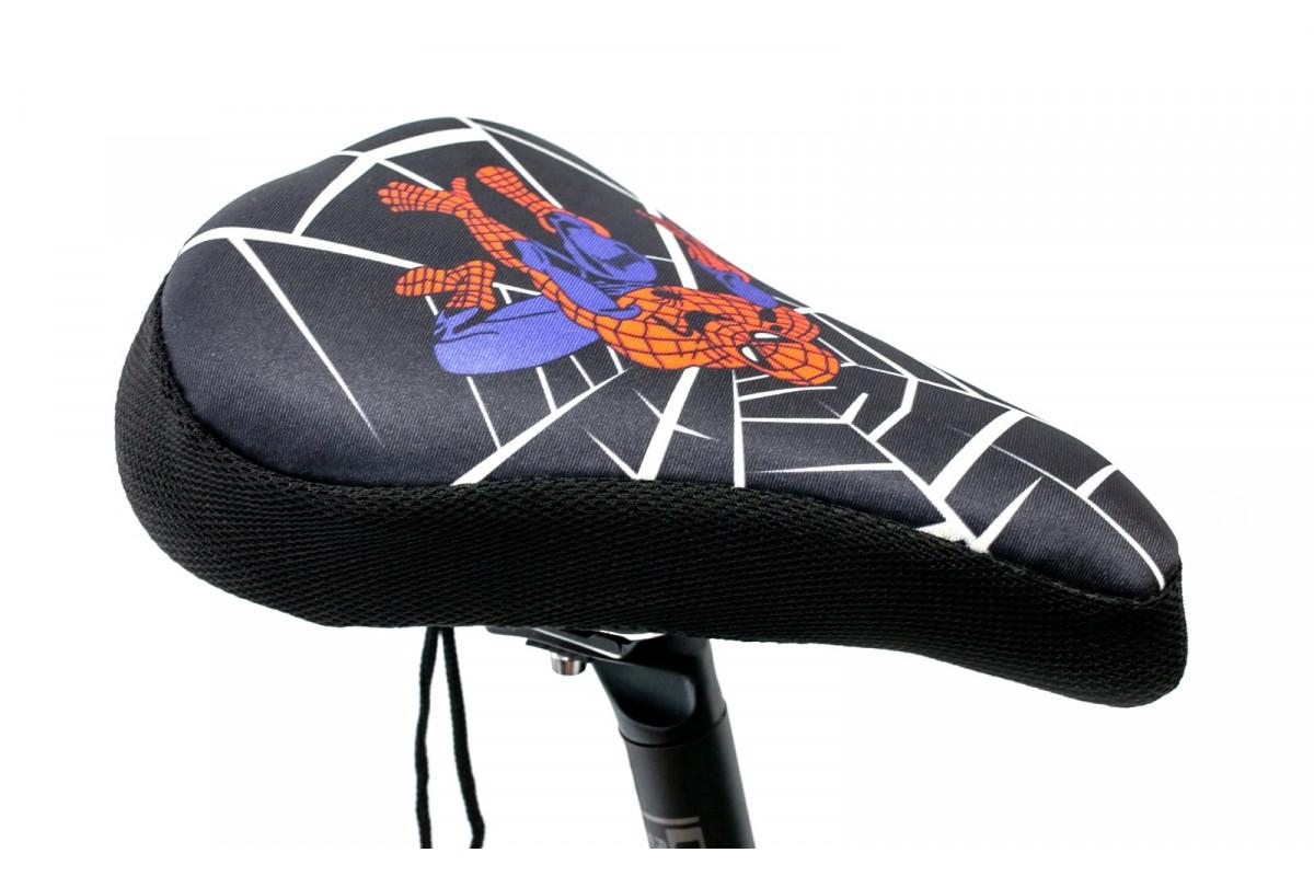 Фото Накладка на детское седло Spider Man с гелевым наполнителем 200*150mm (черно-красный) с официального сайта OSKAR™