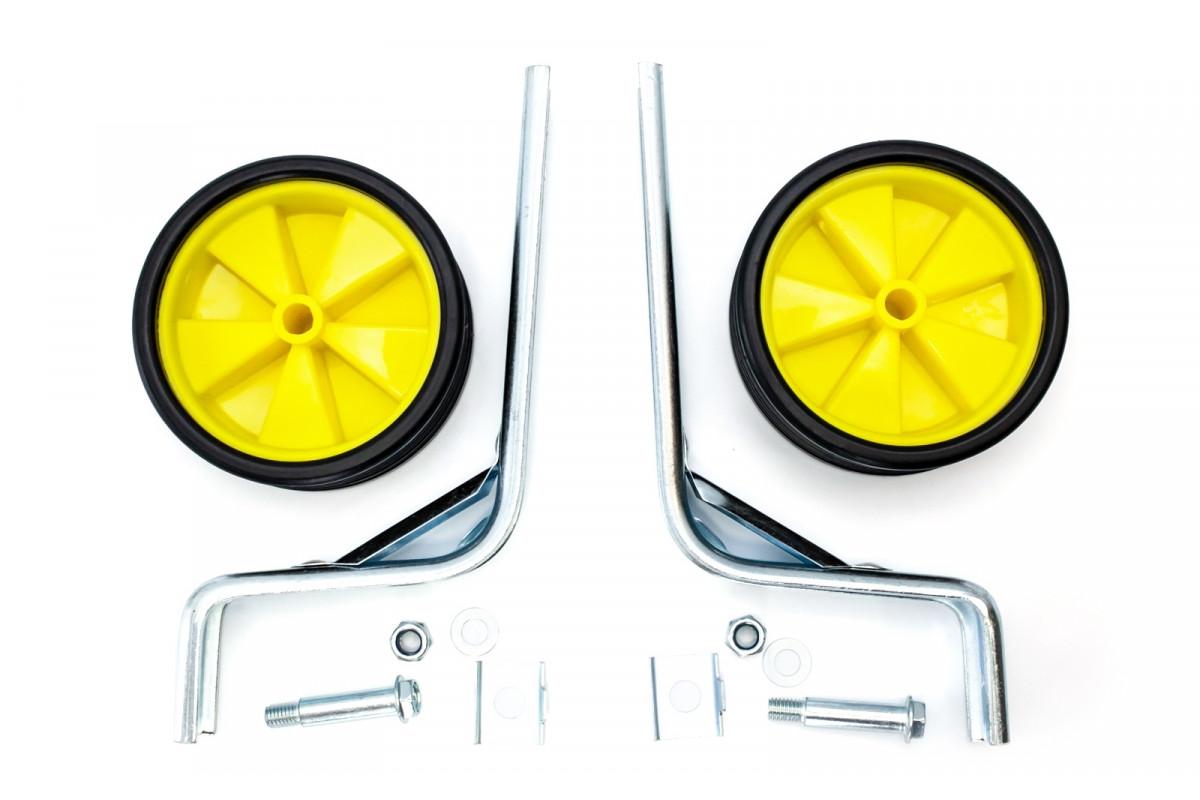 """Фото Опорные (тренировочные) колеса усиленные FSK-BH-214 для детск. вел. 12""""-20"""" желтые с черным (желтый с черным) с официального сайта OSKAR™"""