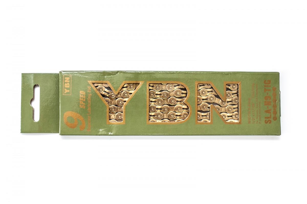 Фото Цепь 9ск. 116зв. YBN SLA-H9 Gold с замком с официального сайта OSKAR™
