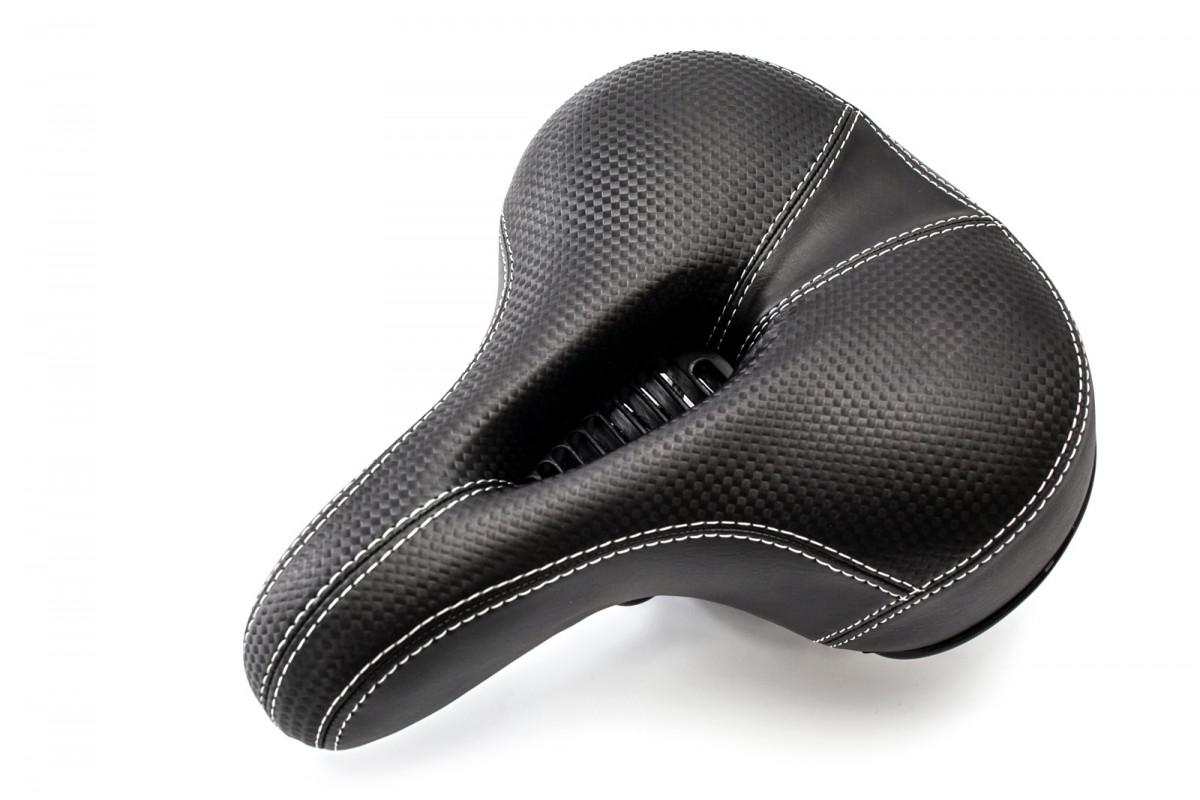 Фото Седло комфортное с пружинами 210*200 YF-1039 с отверстием (черн.) с официального сайта OSKAR™