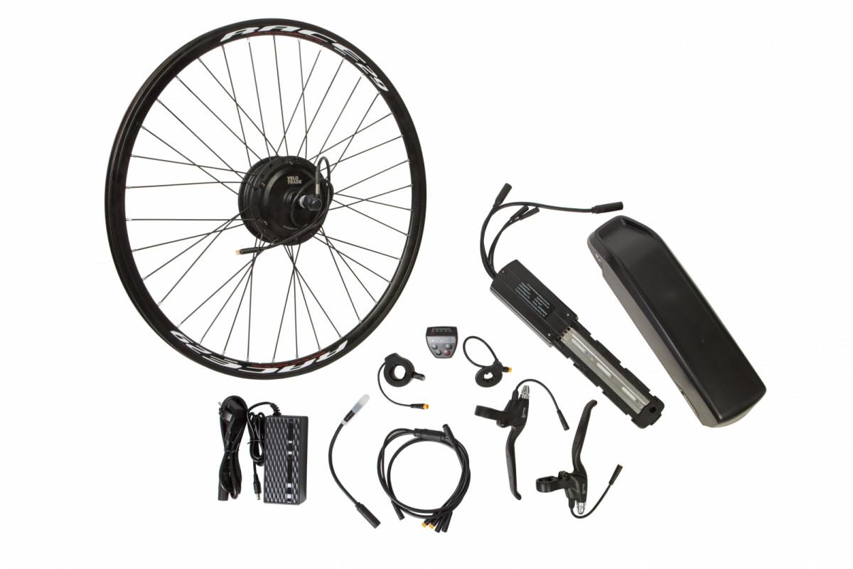 """Фото Электр.велонабор на раму.Мотор-колесо 27.5"""" зад. редук. 350Вт 36В 12.5Ач 17A встроен. контр,ручка газа,диспл,торм.ручки,датчик с-мы асс.пед, заряд.уст с официального сайта OSKAR™"""