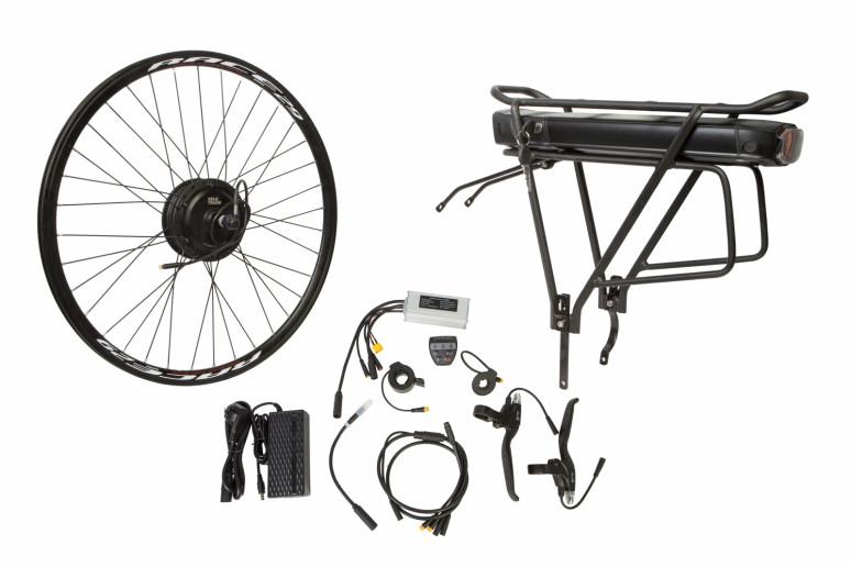 """Электр.велонабор на багажник. Мотор-колесо 24"""" задн. редуктор. 350Вт 36В 12.5Ач 17A контр,ручка газа,диспл,торм.ручки,датчик с-мы асс.пед, заряд.устр."""