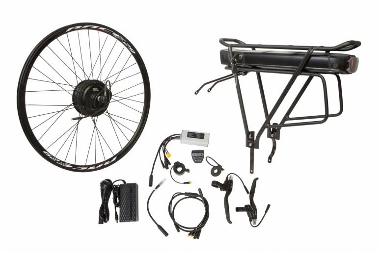 """Электр.велонабор на багажник. Мотор-колесо 27.5"""" задн. редуктор. 350Вт 36В 12.5Ач 17A контр,ручка газа,диспл,торм.ручки,датчик с-мы асс.пед, заряд.уст"""