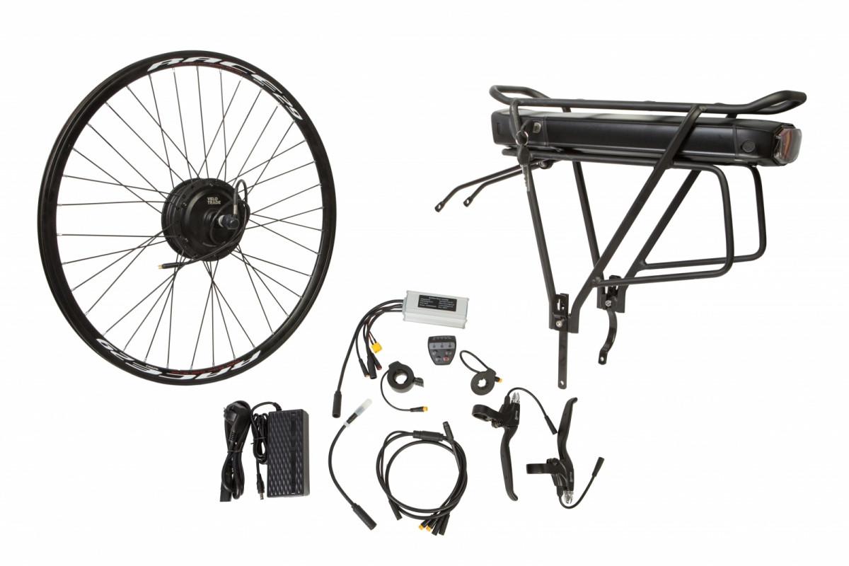 """Фото Электр.велонабор на багажник. Мотор-колесо 29"""" задн. редуктор. 350Вт 36В 12.5Ач 17A контр,ручка газа,диспл,торм.ручки,датчик с-мы асс.пед, заряд.устр. с официального сайта OSKAR™"""