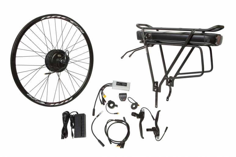 """Электр.велонабор на багажник. Мотор-колесо 29"""" задн. редуктор. 350Вт 36В 12.5Ач 17A контр,ручка газа,диспл,торм.ручки,датчик с-мы асс.пед, заряд.устр."""