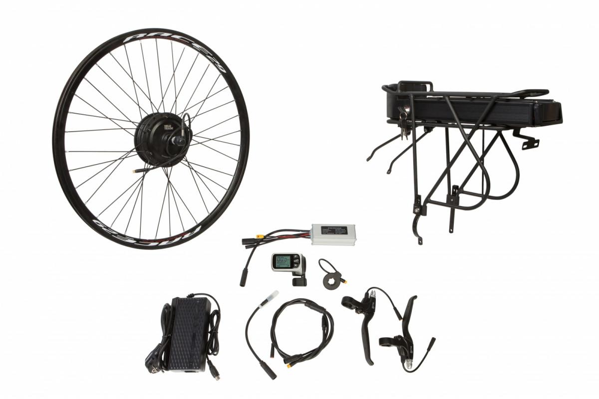 """Фото Электр.велонабор на багажник. Мотор-колесо 26"""" задн. редуктор. 500Вт 48В 12.5Ач 20A контр,ручка газа,диспл,торм.ручки,датчик с-мы асс.пед, заряд.устр. с официального сайта OSKAR™"""