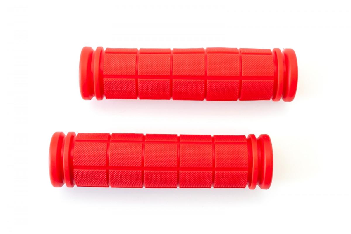 Фото Грипсы L127мм BRAVVOS FL-368 резиновые красные с официального сайта OSKAR™