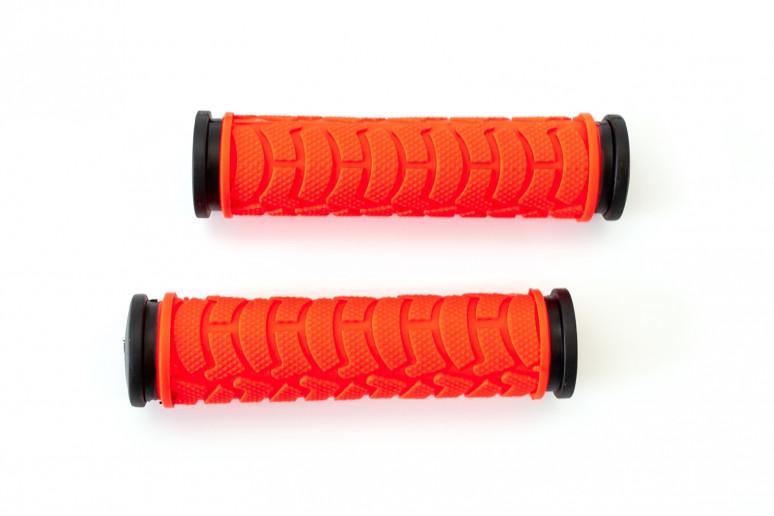 Грипсы L122мм BRAVVOS FL-424 резиновые черно-красные