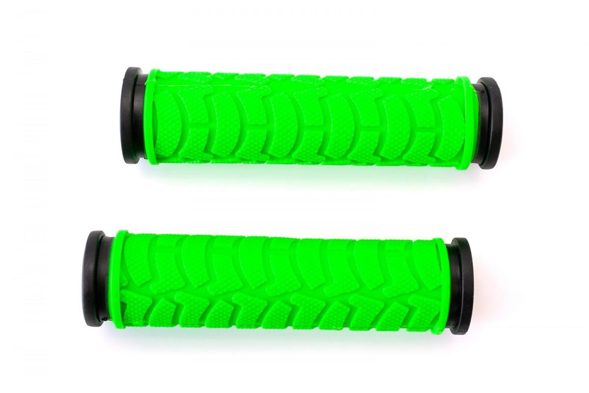 Фото Грипсы L122мм BRAVVOS FL-424 резиновые черно-зеленые с официального сайта OSKAR™