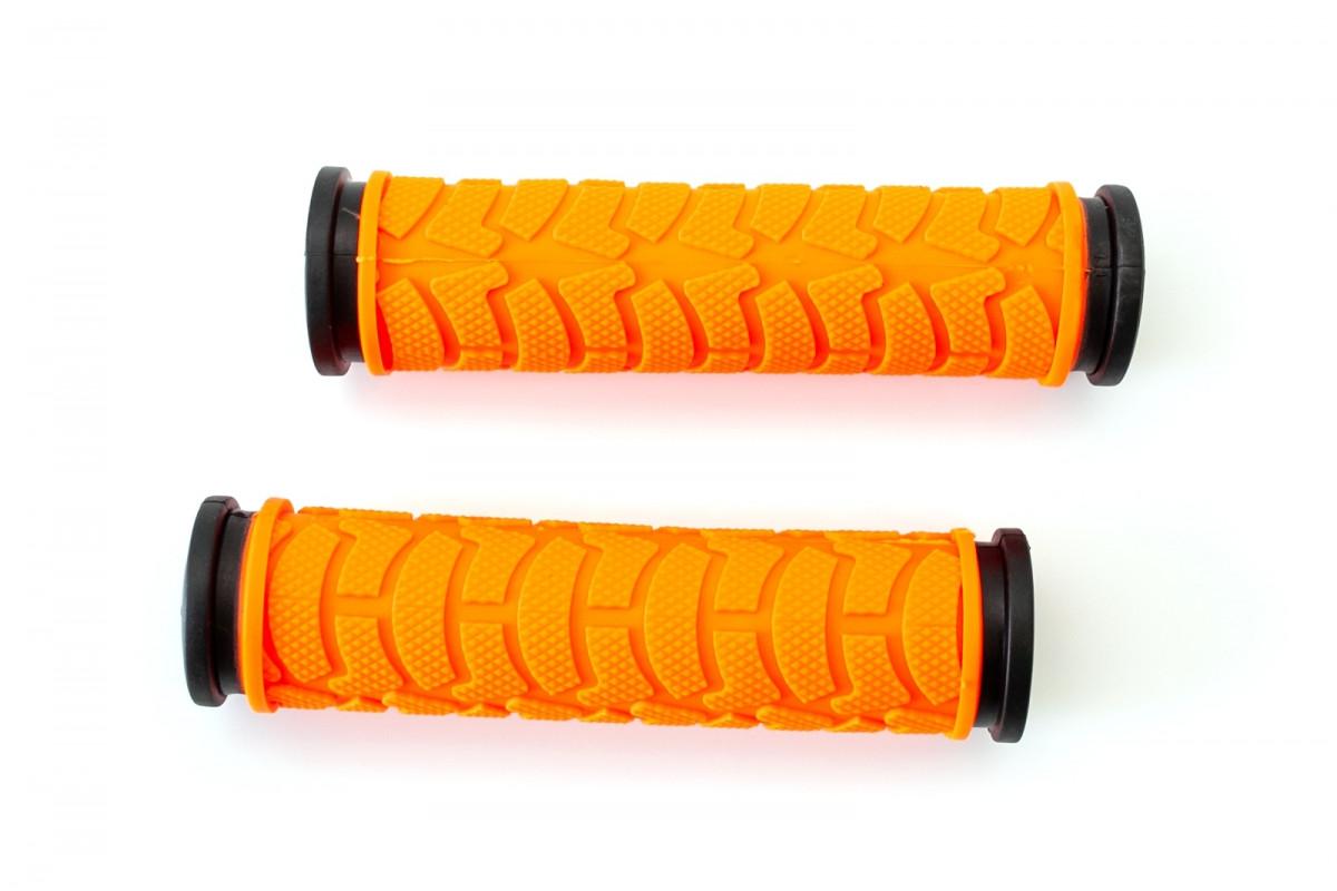 Фото Грипсы L122мм BRAVVOS FL-424 резиновые черно-оранжевые с официального сайта OSKAR™