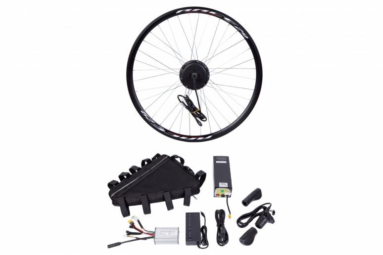 """Электр.велонабор сумка на раму. Мотор-колесо 26"""" задн. редуктор. 350Вт 36В 10Ач 17A синусоидный контроллер, ручка газа, зарядное устр."""
