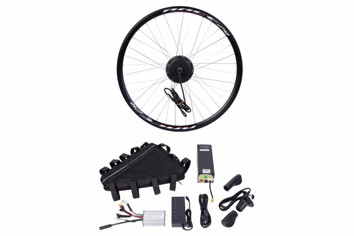 """Фото Электр.велонабор сумка на раму. Мотор-колесо 26"""" передн. редуктор. 350Вт 36В 10Ач 17A синусоидный контроллер, ручка газа, зарядное устр. с официального сайта OSKAR™"""
