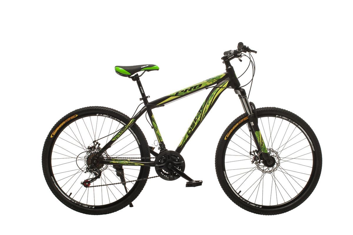 """Фото Велосипед Oskar 26""""M123 черно-зеленый (26-m123-bk+gn) с официального сайта OSKAR™"""