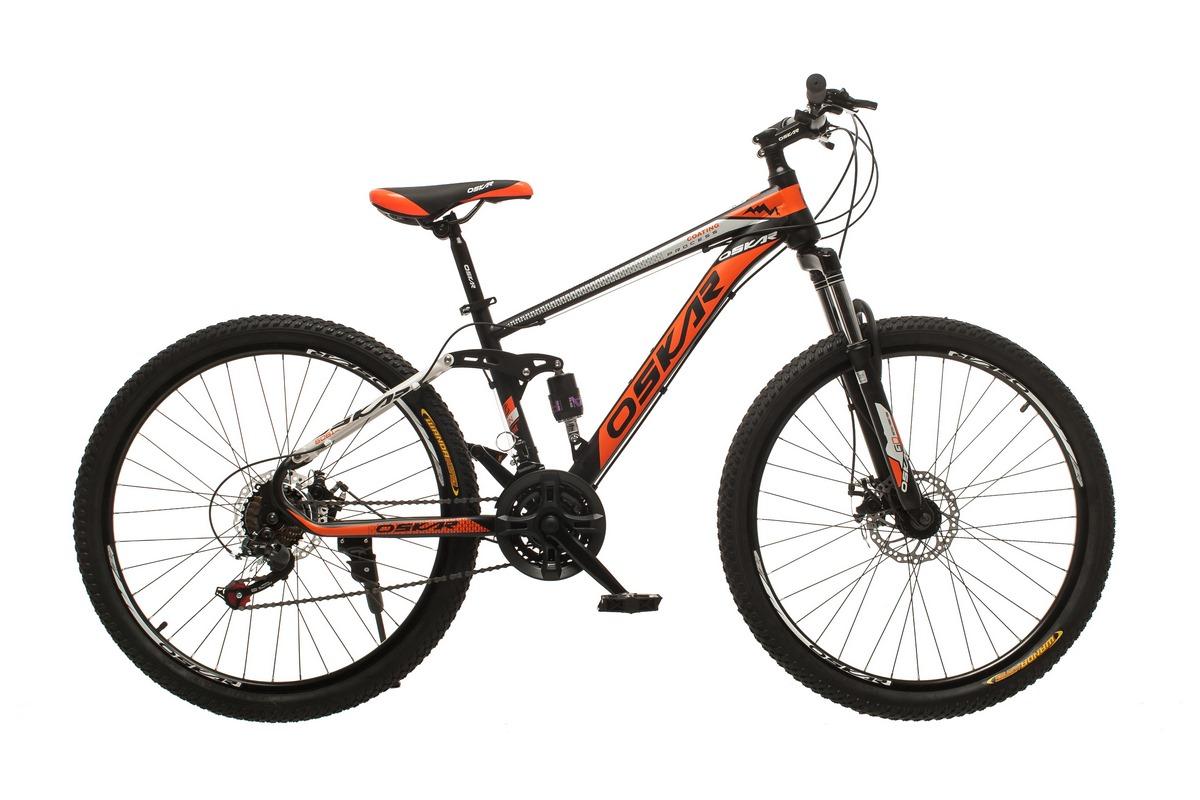 """Фото Велосипед Oskar 26"""" S203 черно-красный (26-s203-bk+rd) с официального сайта OSKAR™"""