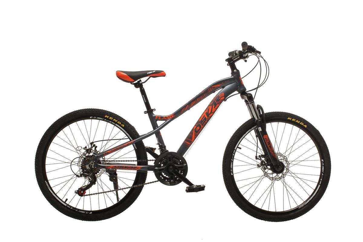 """Фото Велосипед Oskar 24""""FLAME серый (24-m121-gr) с официального сайта OSKAR™"""