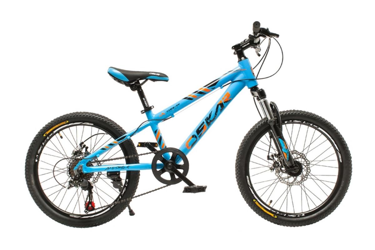 """Фото Велосипед Oskar 20""""-M1825 голубой (20-m1825-bl) с официального сайта OSKAR™"""