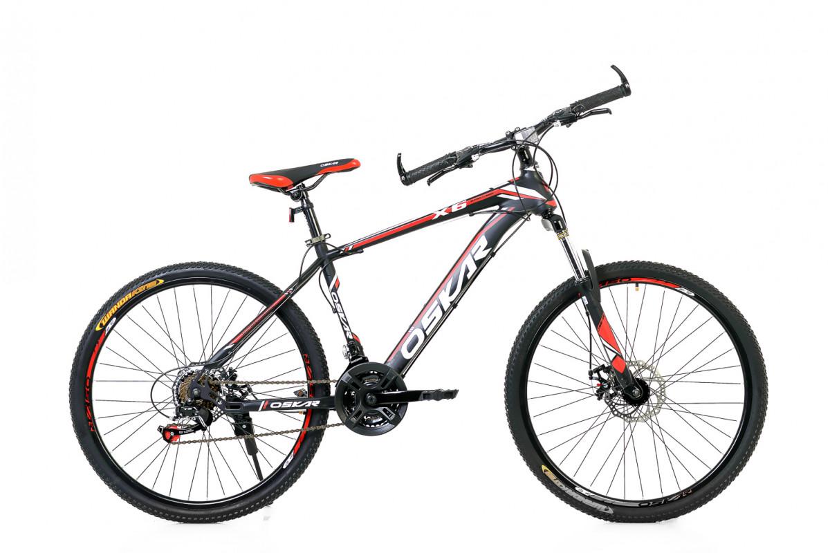 """Фото Велосипед Oskar 26"""" X6 черно-красный (26-1618-rd) с официального сайта OSKAR™"""