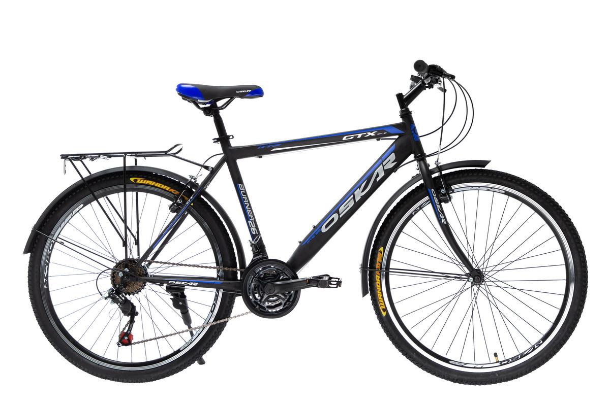 "Фото Велосипед Oskar 26""GTX черно-синий (26-1527-bl) с официального сайта OSKAR™"
