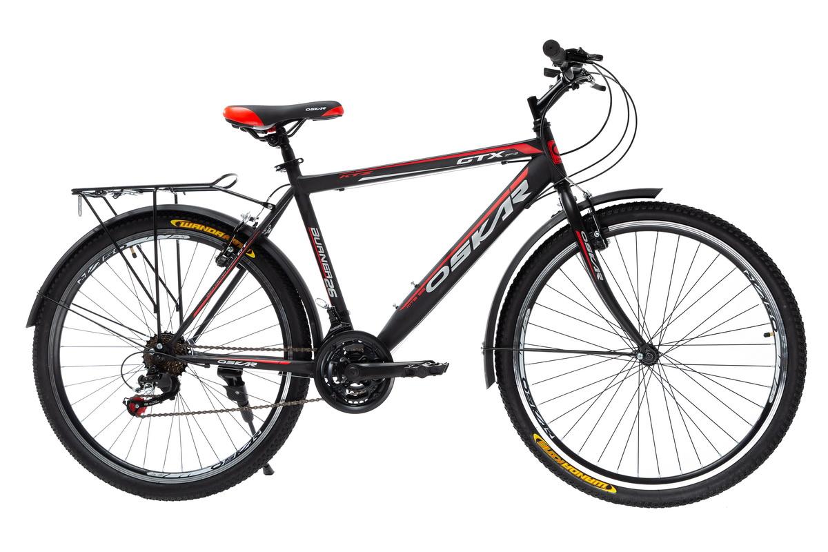 """Фото Велосипед Oskar 26"""" GTX черно-красный (26-1527-rd) с официального сайта OSKAR™"""