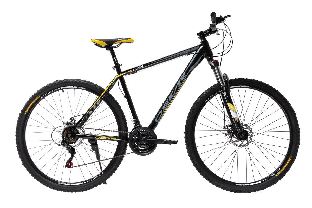"""Фото Велосипед Oskar 29"""" 550 черно-желтый (29-1848-ye) с официального сайта OSKAR™"""