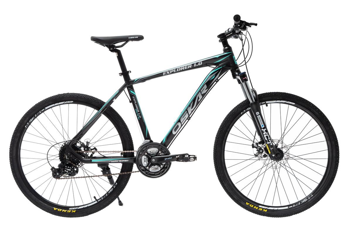 """Фото Велосипед Oskar 26"""" EXPLORER 1.0 черно-голубой (26-1804-bk) с официального сайта OSKAR™"""