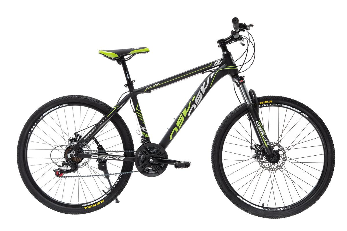 """Фото Велосипед Oskar 26"""" SW-001черно-зеленый (26-1814-bg) с официального сайта OSKAR™"""