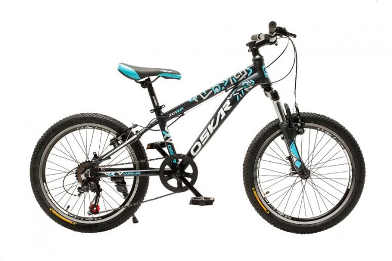 "Велосипед Oskar 20"" SCARP черно-голубой (20-1833-bl)"