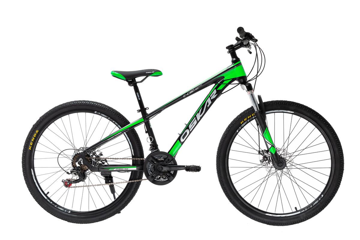 """Фото Велосипед Oskar 26""""PIRANHA черно-зеленый (26-piranha-gn) с официального сайта OSKAR™"""