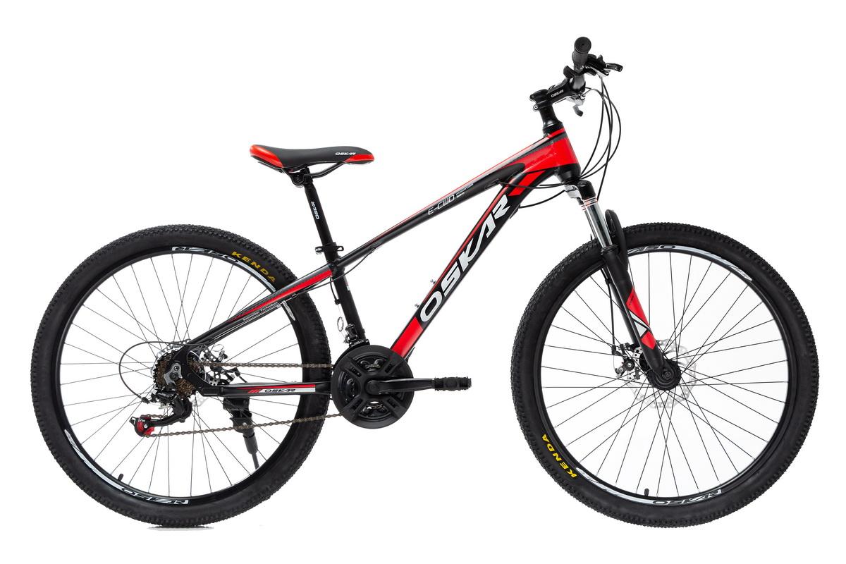 """Фото Велосипед Oskar 26""""PIRANHA черно-красный (26-piranha-rd) с официального сайта OSKAR™"""