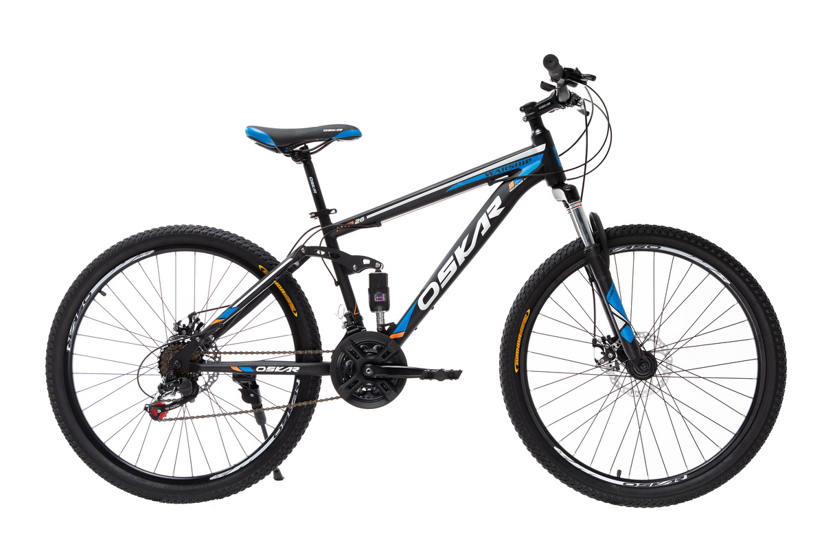 "Фото Велосипед Oskar 26"" WARSHIP черно-синий (26-sus1803-bl) с официального сайта OSKAR™"