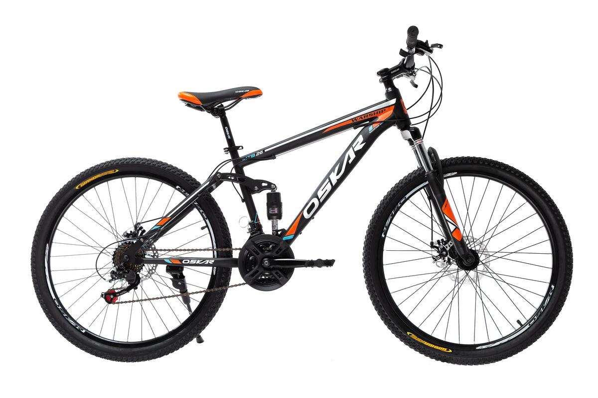 """Фото Велосипед Oskar 26"""" WARSHIP черно-оранжевый (26-sus1803-or) с официального сайта OSKAR™"""