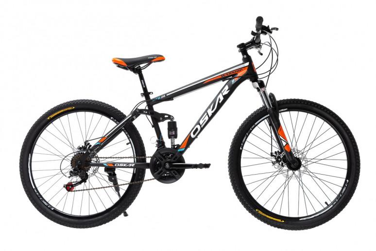 """Велосипед Oskar 26"""" WARSHIP черно-оранжевый (26-sus1803-or)"""