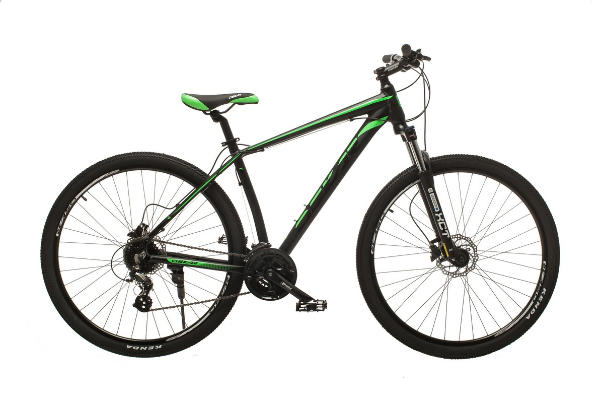 """Фото Велосипед Oskar 29"""" JURA черно-зеленый (29-1806h-gn) с официального сайта OSKAR™"""